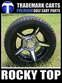 new 12x7 ace wheels and low profile golf cart tires