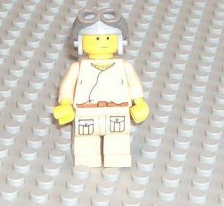 LEGO Star Wars Anakin Skywalker podracer pilot freckles figure people