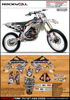 Rockwell Motocross Graphics Kawasaki KX 250 F 2006 2008 Dirt Bike