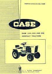 case 220 222 442 garden tractor parts catalog manual time