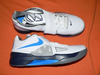 Mens Nike Zoom KD IV shoes new 473679 100 Durant white photo blue