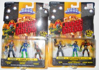 lot 2 sets judge dredd action figures mattel time left