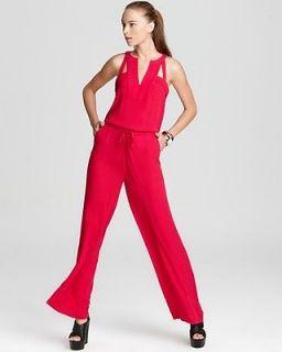 new bcbg calhoun turkish rose jumpsuit l $ 248 wqr9b949