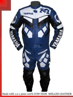 Yamaha R1 Blue Racing Leather Motorcycle full suit Jacket trouser  All