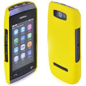 Matte Hard Case For Nokia Asha 305/306 Rubber Coating Cover Yellow