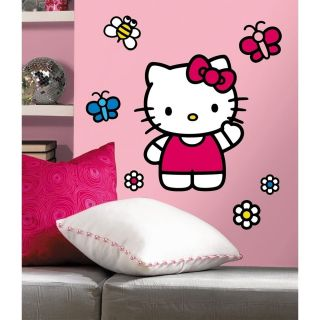 WORLD of HELLO KITTY wall stickers 15 decals Sanrio MURAL room decor