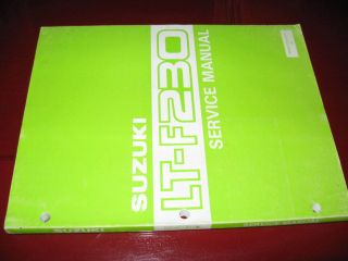 1986 1987 Suzuki ATV LT F230 Quad Sport 4 Stroke Factory Service