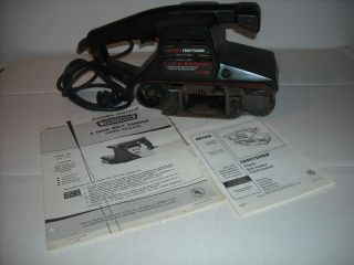 USED  CRAFTSMAN BELT SANDER 3 INCH MODEL NO. 315.117120