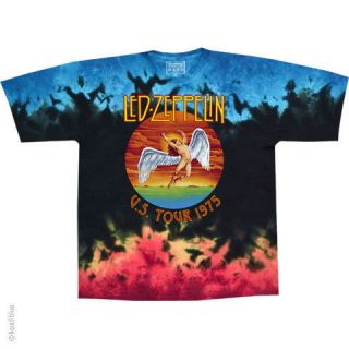 new led zeppelin icarus 1975 tie dye t shirt more options size men s