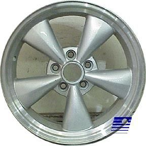 05 09 Ford Mustang 17x8 Factory 5 Funnel Spoke Machined Charcoal Wheel
