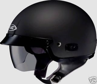 HJC IS 2 Motorcycle Half Helmet Matte Black X XL XLg Integrated