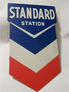 Standard Station Sign, Nostalgic Looking Gas Service Station Retro