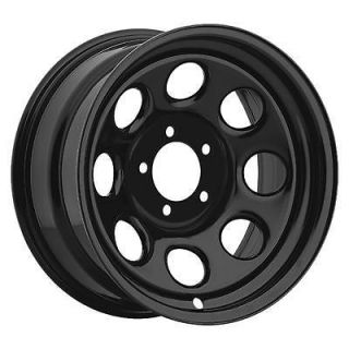 Cragar Soft 8 Black Steel Wheels 17x9 5x5.5 BC Set of 4