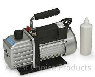 Vacuum Pump Single Stage 5CFM 1/3HP Rotary Vane Deep HVAC Tool For AC