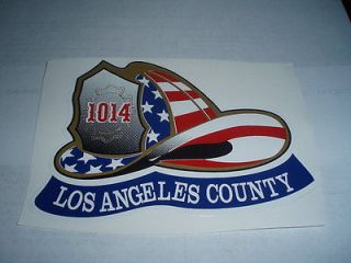 los angeles county fire helmet flag decal sticker lafd time