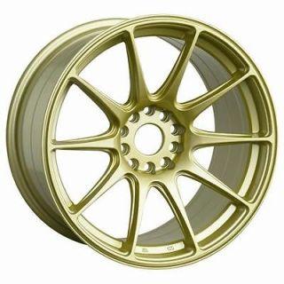 15 XXR 527 GOLD RIMS WHEELS 15x8.25 +0 4x114.3 AE86 COROLLA S14 S13