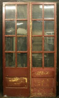 French Doors Interior Antique Vintage 89 1 2x48 Inches Glass 12 Pane