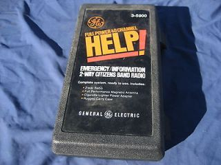 GE   EMERGENCY CITIZENS BAND RADIO SYSTEM   FULL POWER 40 CHANNEL