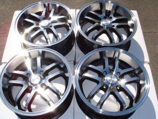18 4x100 4x114.3 Polished 4 Lug Wheels Tiburon Civic Integra Accord