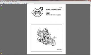 Volvo Penta MD5A Marine Diesel Motor Repair Manual CD     MD 5A