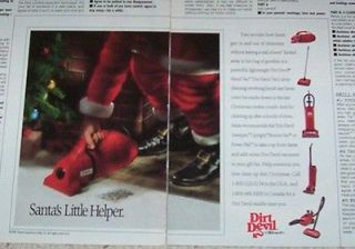 1991 advertising  Dirt Devil Royal vacuum cleaners  Santa Claus helper