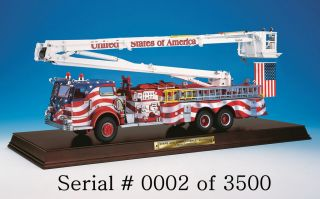 Franklin Mint Stars & Stripes Pierce Snorkle Fire Truck Diecast 132