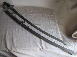US Civil War Model 1840 Wristbreaker Heavy Cavalry Sword w/Scabbard