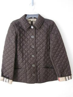Burberry Infant Boys Jerry Quilted A Line Jacket Sizes 6