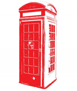 london telephone box vinyl wall sticker decal quotes more options