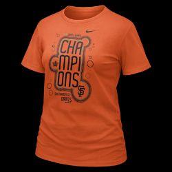 Nike 2010 World Series Celebration (MLB Giants) Womens T Shirt