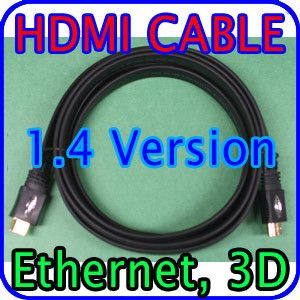 10ft Premium High Speed Gold HDMI Cable V1 4 1080p 3D Support 3M Flat
