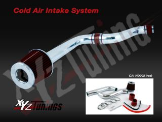 RED 90 93 Accord DX/LX/EX 2.2L L4 Cold Air Intake Induction Kit