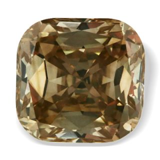 01 Ct Champagne Color Cushion Cut Loose Real Diamond
