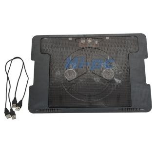 Port USB Laptop Cooling Cooler Stand Pad with 2 Fans for Notebook 9