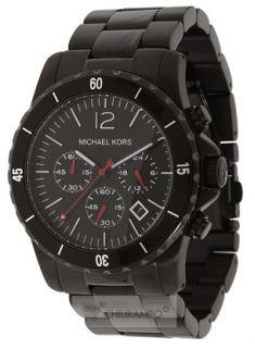 New Michael Kors Mens Black ion Plated Watch MK8161