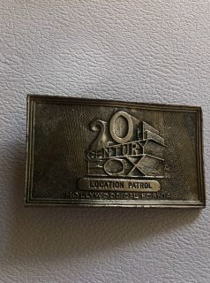 Vintage Silver Pewter Offical 20th Century Fox Patrol Belt Buckle
