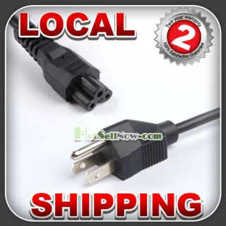 Prong Laptop Adapter Power Cord Cable Lead 3pin New