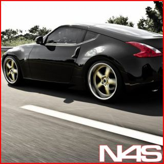 Brand New 20 Nissan 350Z Vertini Drift Gold Staggered Wheels Rims