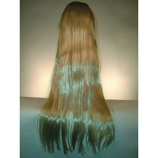 GODIVA RAPUNZEL COUSIN IT WIG WIGS BLONDE STRAIGHT 5 FOOT LONG