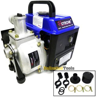 Gasoline Trash Water Pump 1 5 Inlet Outlet 63cc 2 Stroke Motor