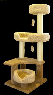 Majestic Pet 55 Kitty Cat Jungle Gym Cat Furniture Tree