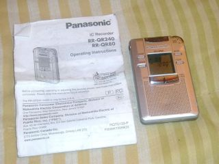 Panasonic RR QR80 64 MB Handheld Digital Voice Recorder Portable with