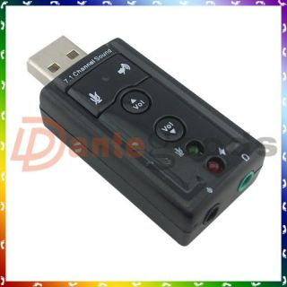 usa usb external 7 1 channel 3d virtual audio sound card adapter pc