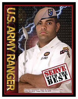 US Army Rangers Food Service Cooks Recruitment Poster