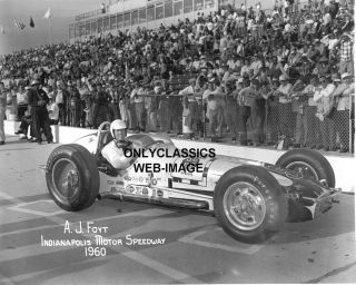 1960 Indy 500 A J Foyt Offy Race Car Auto Racing Photo