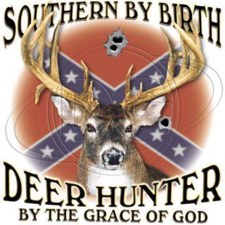 Southern Birth Deer Hunter Grace of God Rebel Hunting Buck Season