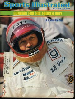 Sports Illustrated A.J. Foyt Goes for Fourth Indy A.J. Foyt On Cover