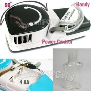 Portable HandHeld Air Conditioner Condition USB Cooler Cool Fan Black