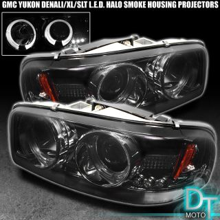 Sierra Yukon Denali Halo Smoke Projector LED Headlights
