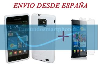 Blanca Modelo s Line Protector Para Samsung Galaxy S2 II I9100
